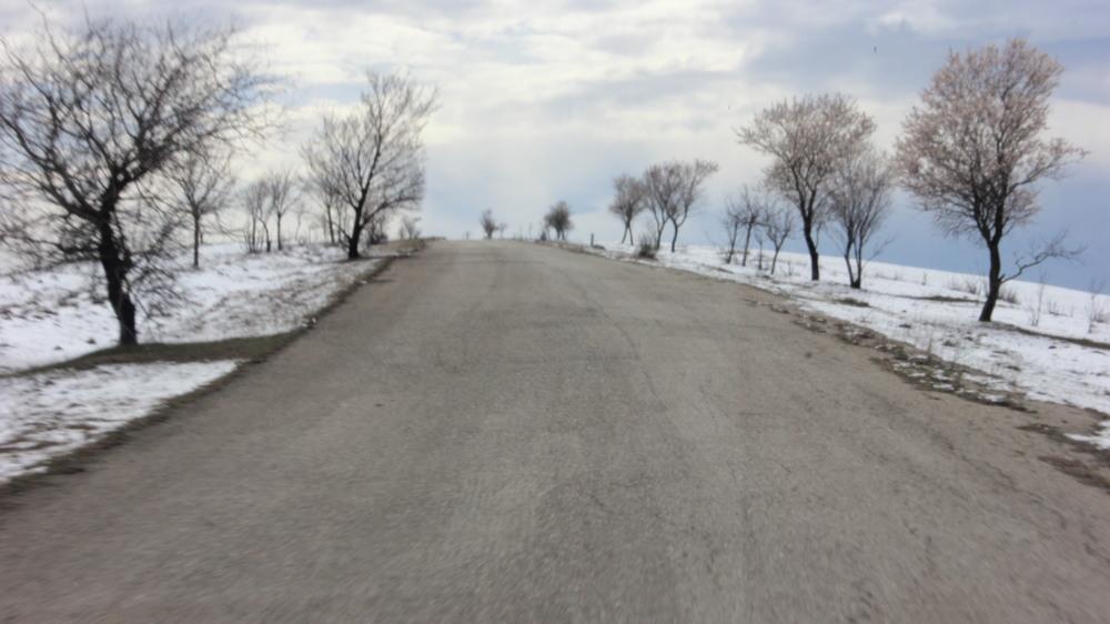 Road to David Gareja Monastery.