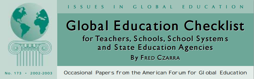 Click on image for .pdf version of Global Education Checklist