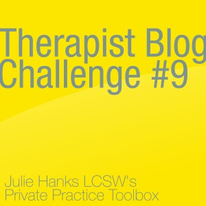 Therapist Blog Challenge #9 Infographic