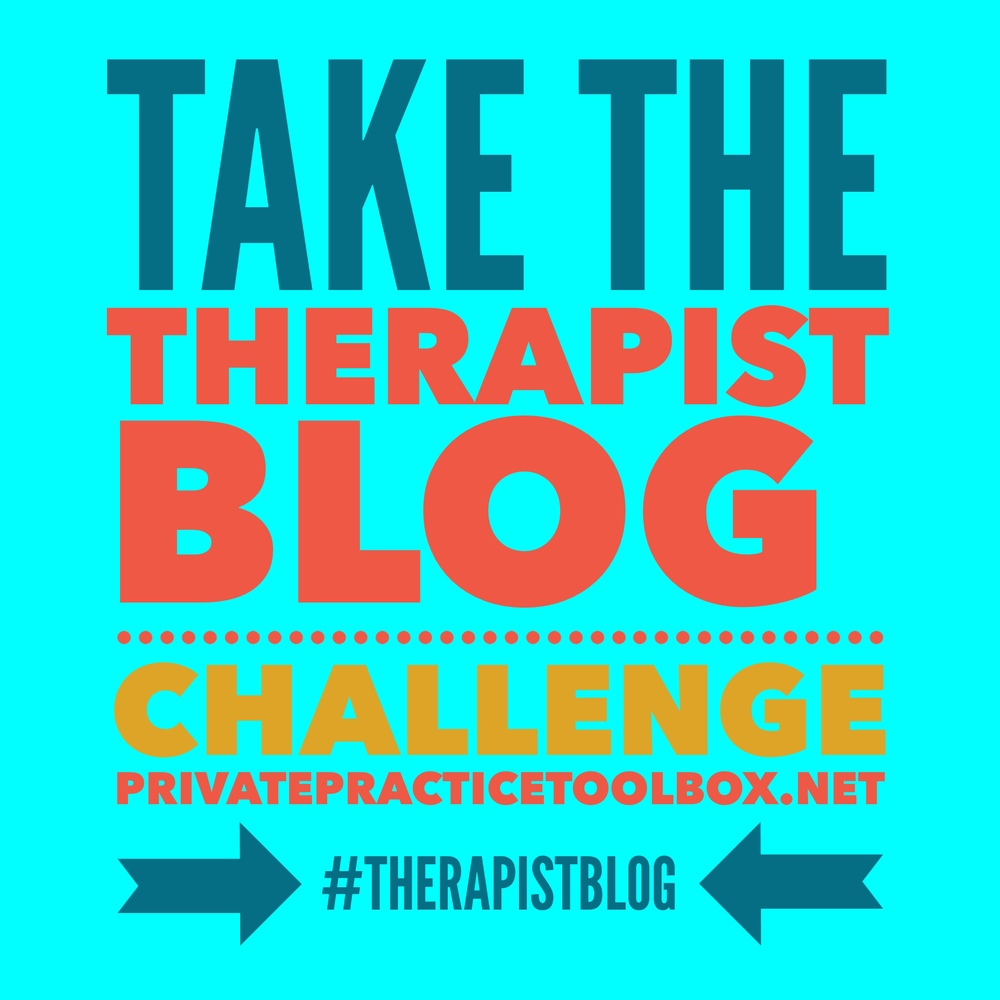 Therapist Blog Challenge