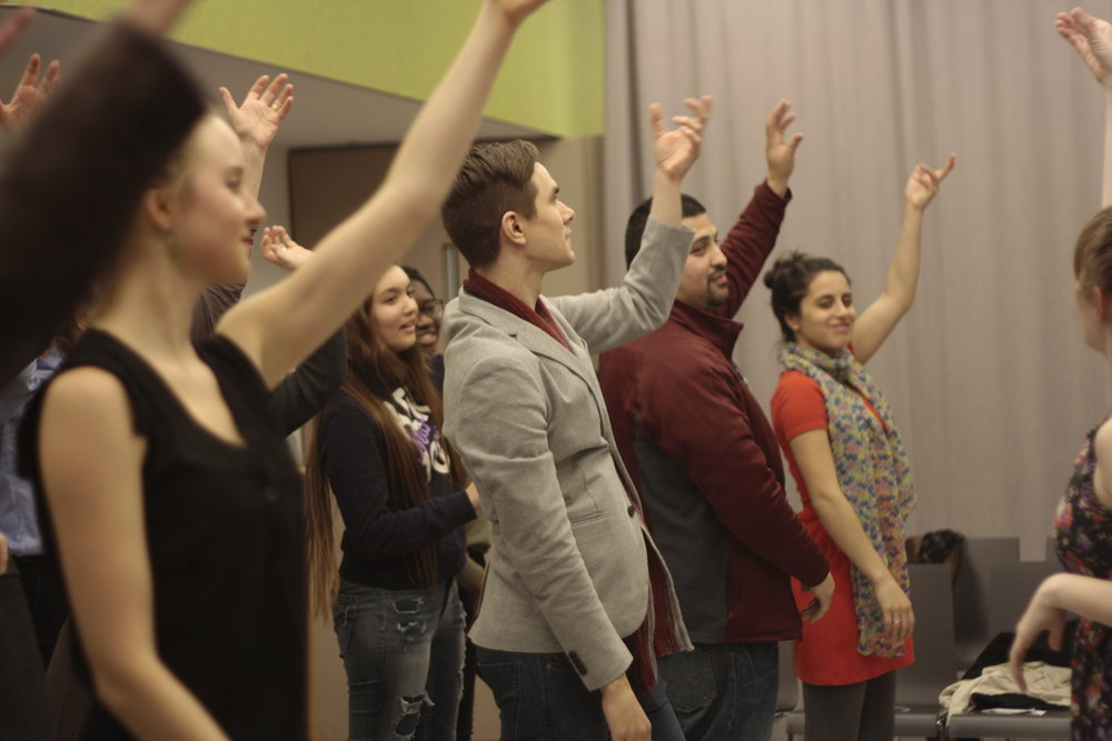 Audience participation in the CCTA event directed by Erin Mee at New York University.