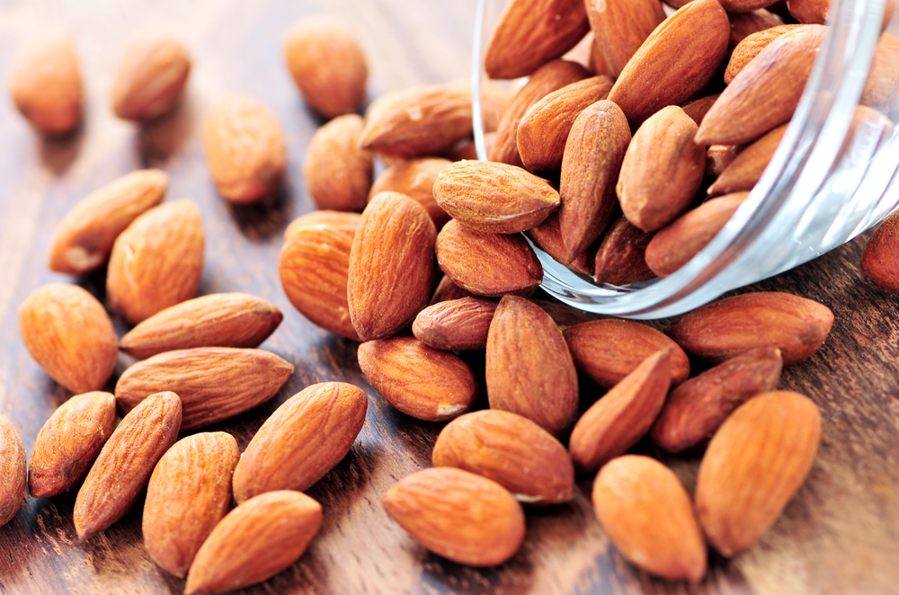 The health benefit of almonds.
