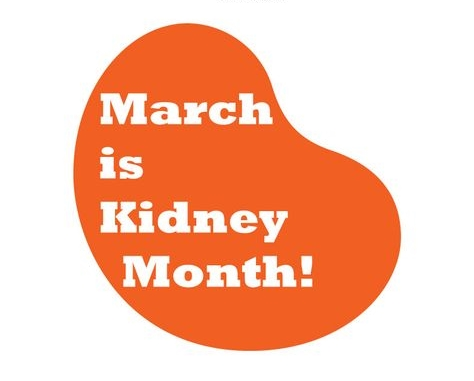 What will you do for your kidneys in march?