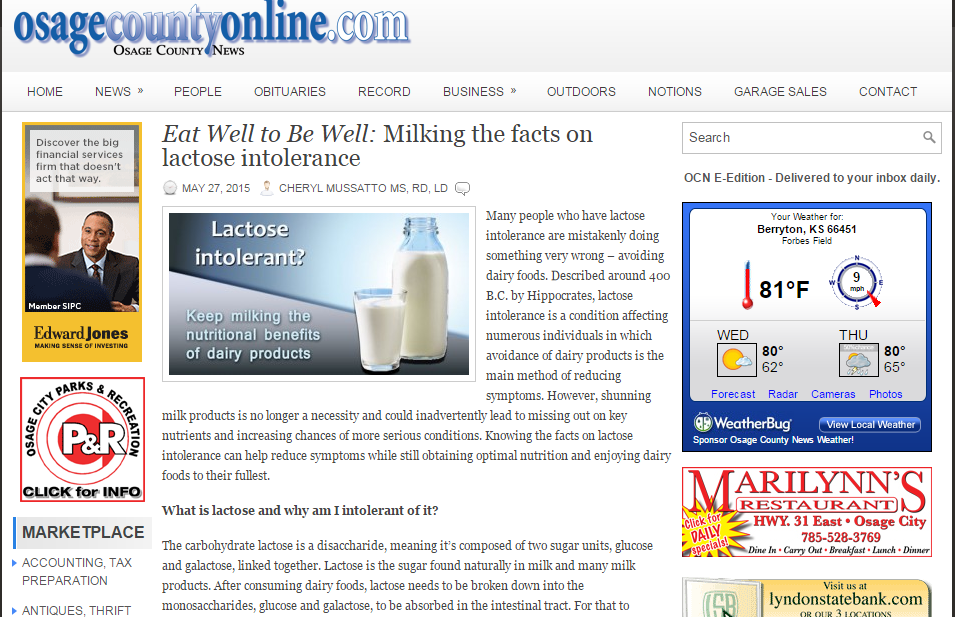 Lactose Intolerance and Drinking Milk, Dr. David Samadi