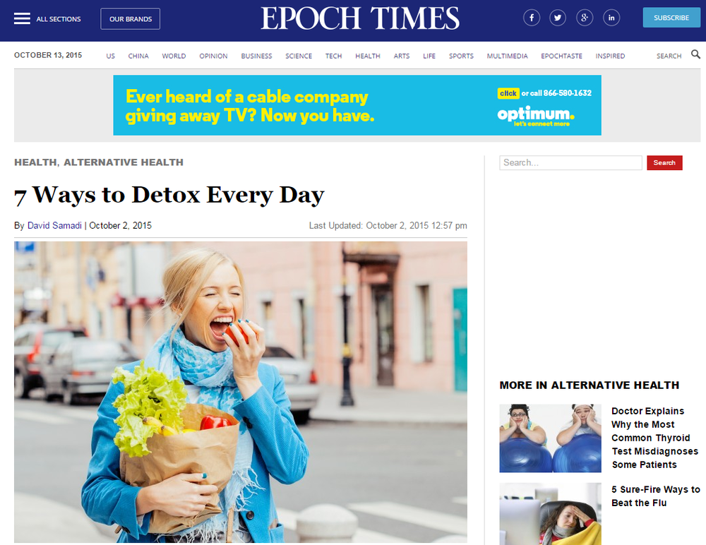 Epoch Times: How to Detox