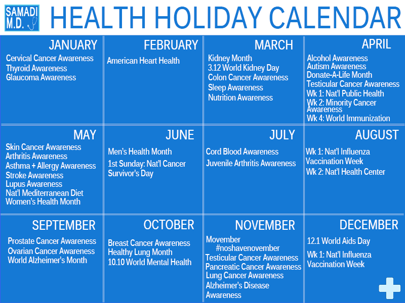 Healthcare Recognition Events Calendar | just b.CAUSE