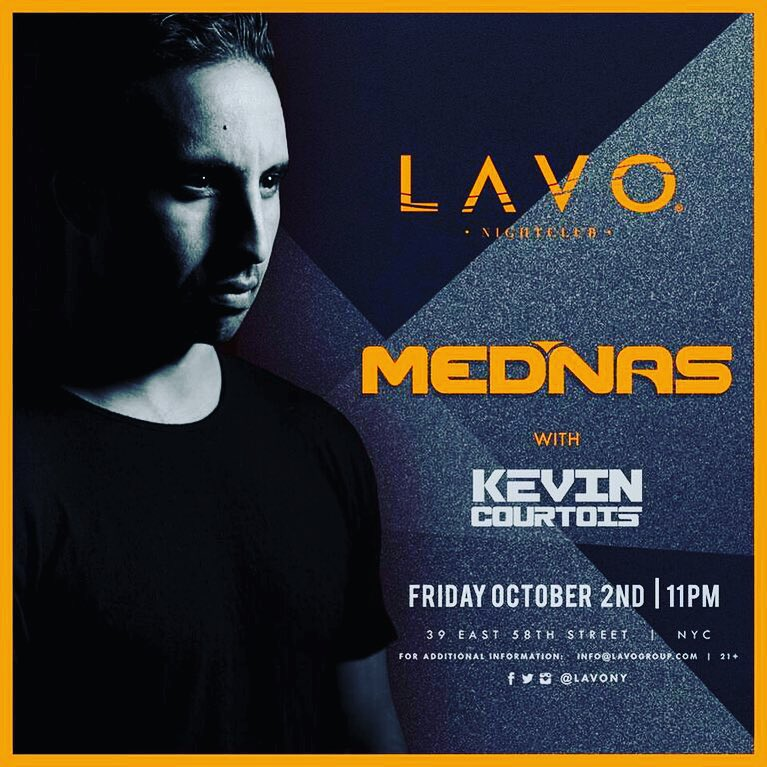 Kevin Courtois MEDINAS LAVO Nightclub NYC