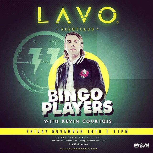 Kevin Courtois Bingo Players LAVO Nightclub NYC
