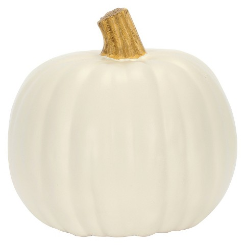 These adorable pumpkins from  Target  (just $5.60 each) will take your home decor from Halloween straight through to Thanksgiving!