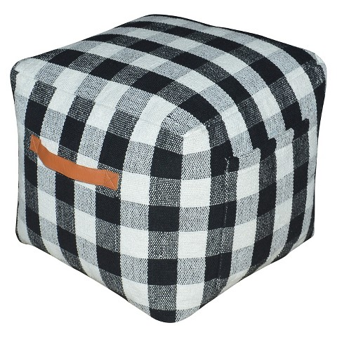 Threshold Plaid Pouf - $49.99