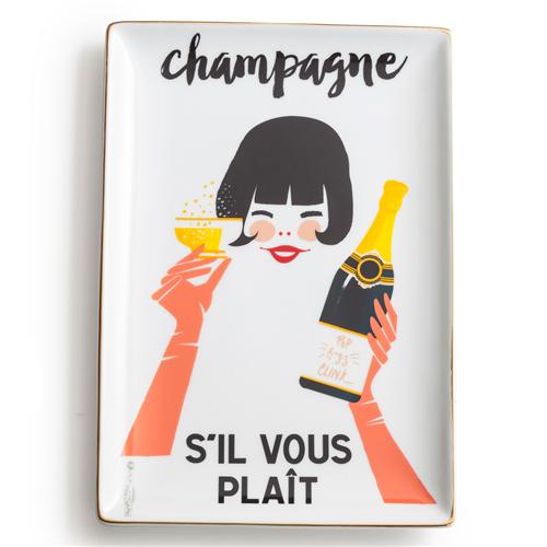 """""""S'il Vous Plait, Champagne"""" Tray - $30"""