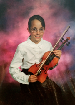 Obligatory awkward youth symphony portrait at age 9, haha!