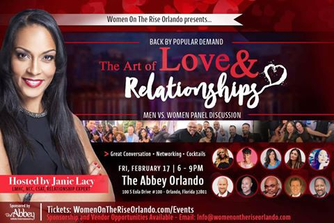 """4th Annual """" The Art of Love and Relationships Panel Discussion hosted by Janie Lacy."""