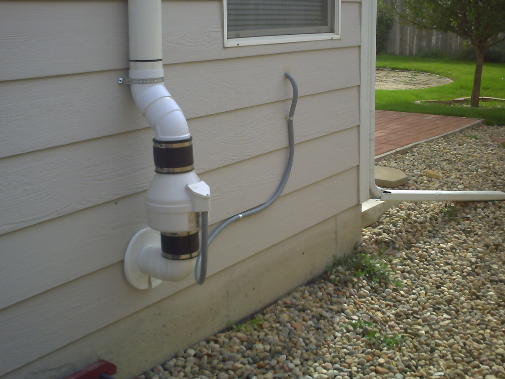 A radon mitigation system Littleton