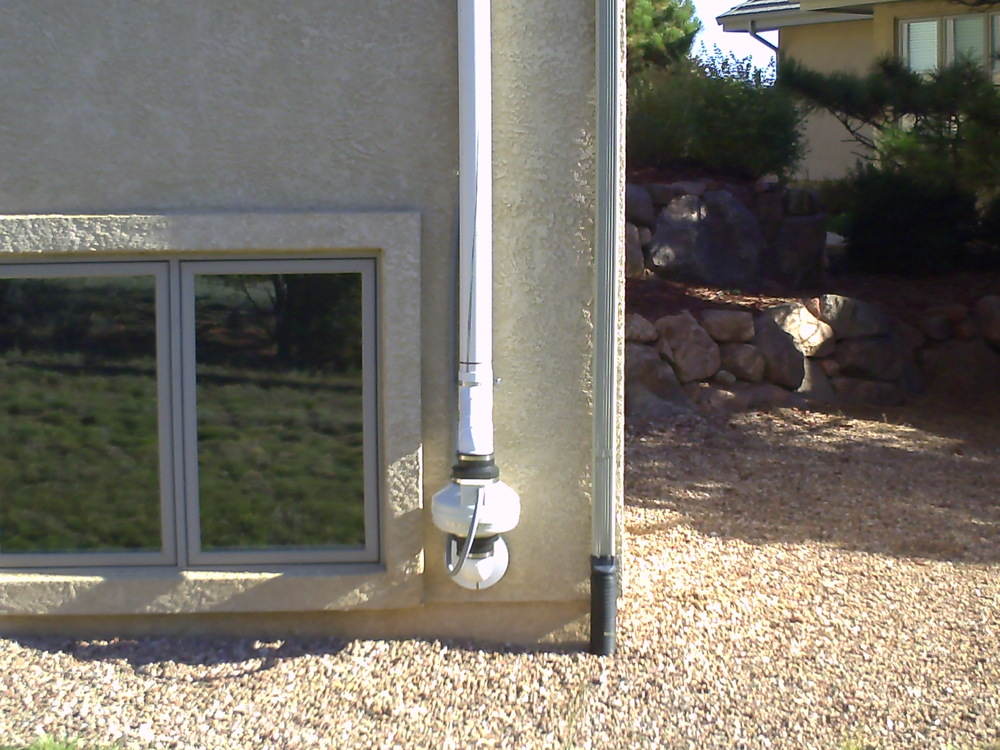 Radon Mitigation system installed by American Radon LLC in Denver CO