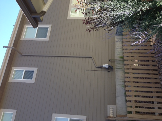 Radon Removal Fan installed on home in Fort Collins