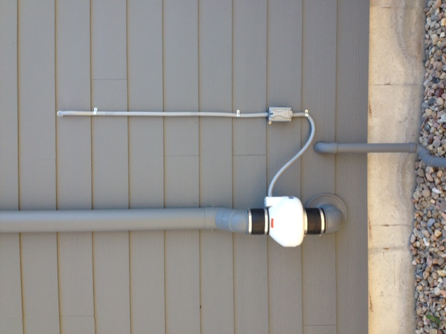 Fort Collins Radon Mitigation system with paint job