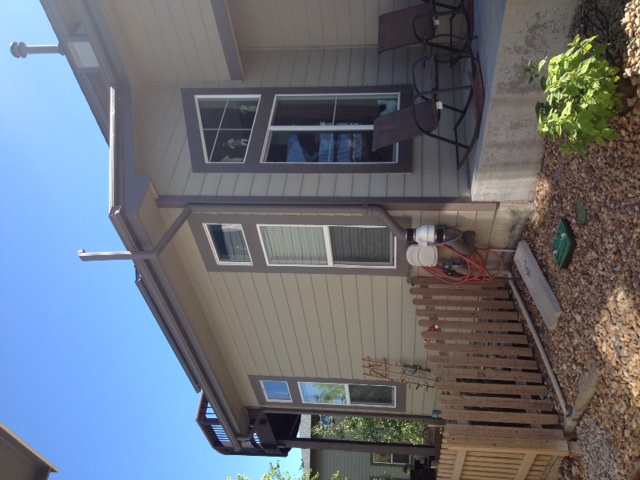 radon gas fan near Denver Metro porch
