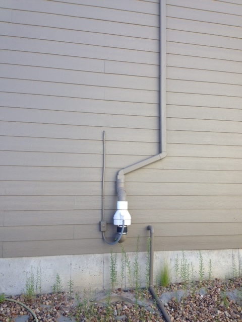 Radon removal fan in Fort Collins, Colorado