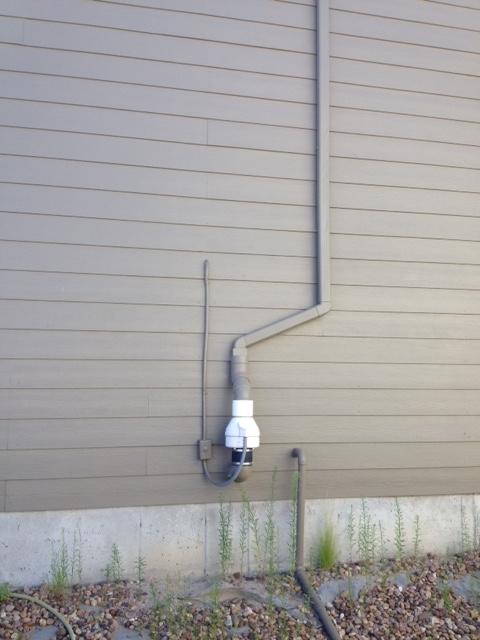 Radon removal fan in Fort Collins, Colorado