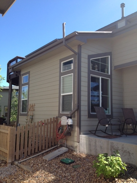 Denver porch with radon system installed