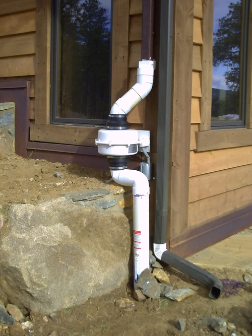 radon installation on Littleton, CO home