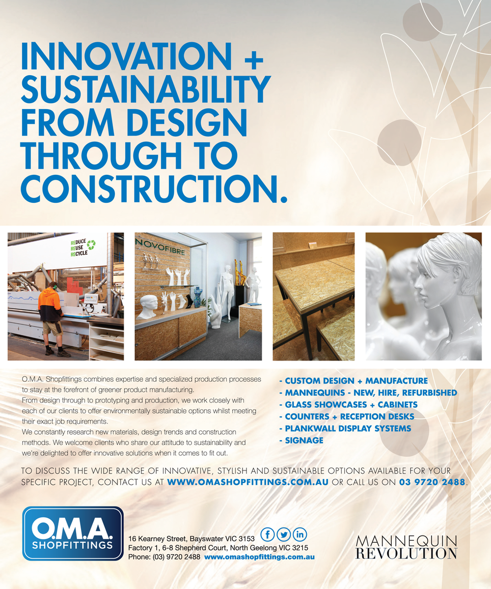 OMA Shopfittings Green Magazine Ad