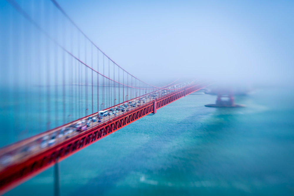 Golden Gate - I won an honorable mention award in a Chicago areawide high school photography competition with this photo of the Golden Gate Bridge. I used a special lens known as a