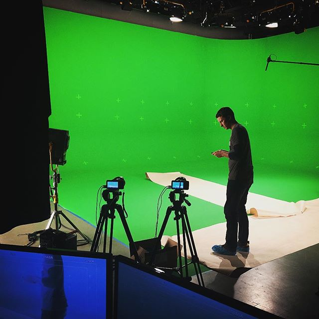 Calm before the storm #greenscreen #blackmagicdesign