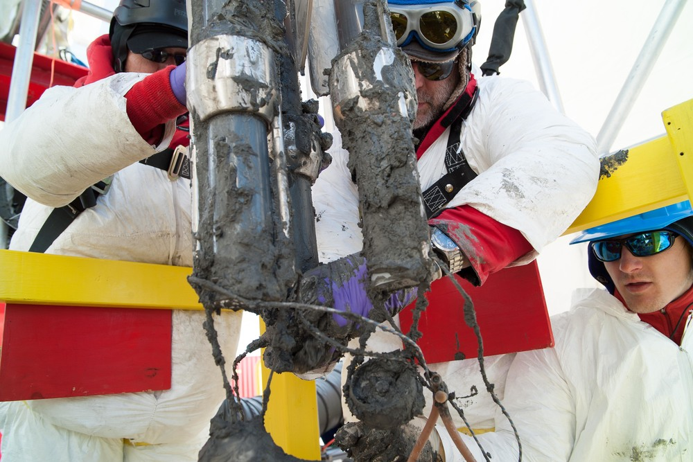 Scientists retrieve sediment samples from Subglacial Lake Whillans. PHOTO COURTESY TRISTA VICK-MAJORS