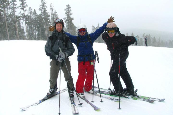 This 2010 skiing trip was one of many that resulted in injury. (Photo courtesy Dan Boyce)