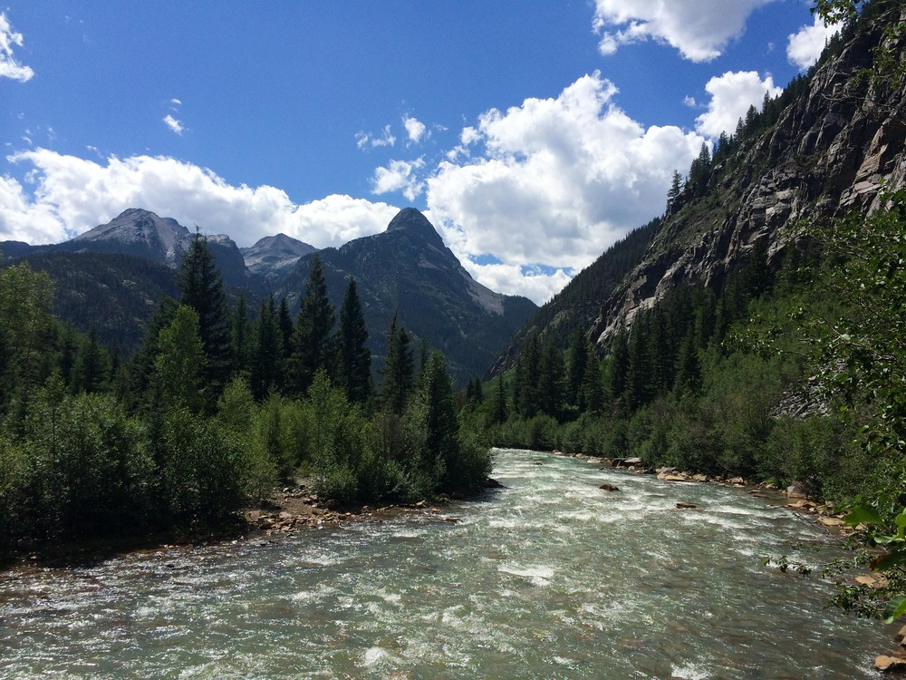 Crossing the Animas River, near Silverton. PHOTO BY WILLOW BELDEN