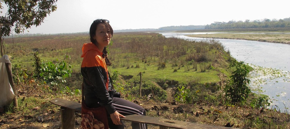 tiara lin in chitwan national park, nepal (photo courtesy tiara lin)