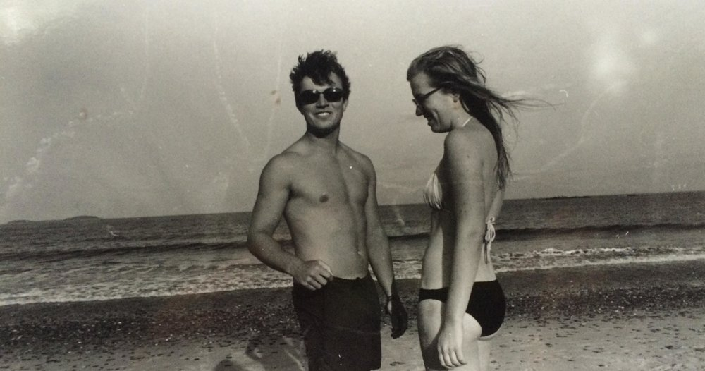 Grace and Tom on a beach in Maine (Photo courtesy Grace Henes)
