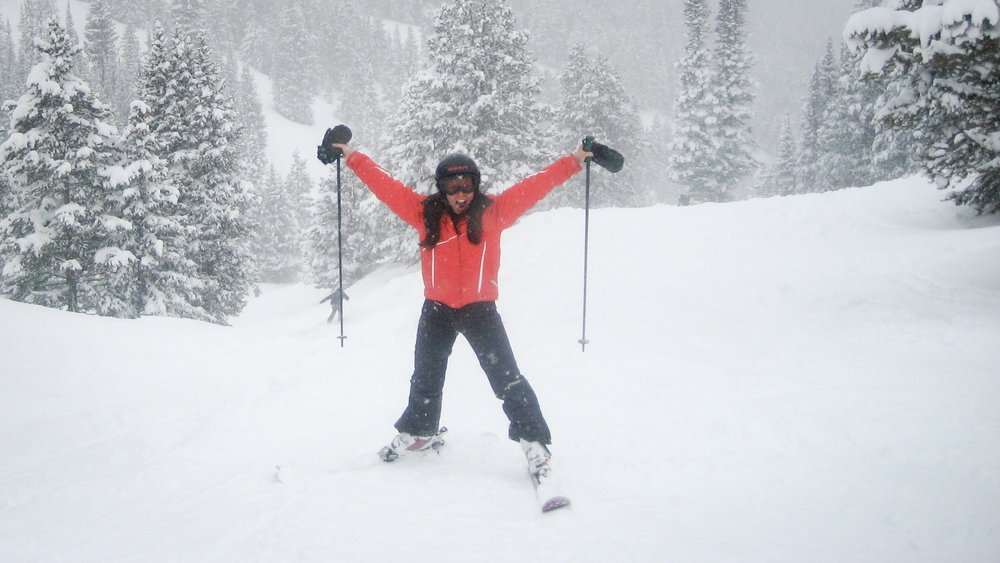 Susan Shain enjoys a powder day in Colorado. (Photo courtesy Susan Shain)