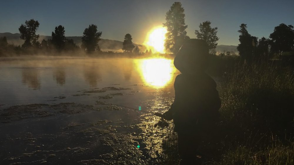 Monica Gokey's son Vern goes fishing at dawn. (Photo by Monica Gokey)