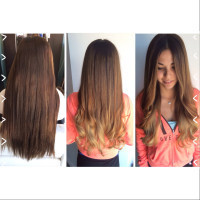 Long beautiful natural ombre parlour salon redondo beach ca amber our hairstylist at parlour salon near manhattan beach did her clients gorgeous long hair this week she gave it a natural ombr with ashy beigey urmus Images