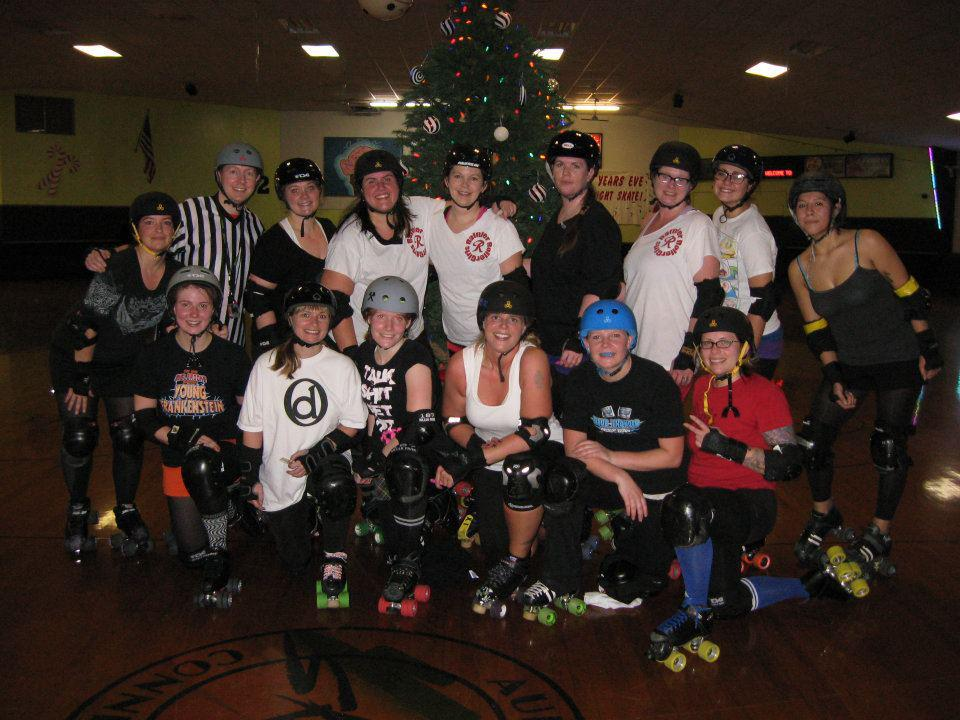 The original Rainier Roller Girls back in 2011