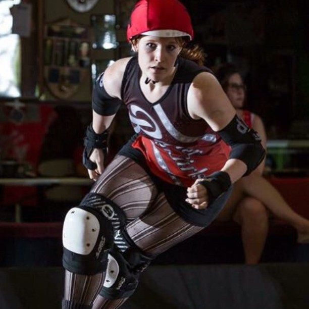 Happy birthday to the lovely and talented Damsel of Doom!!! Photo by Jason Garland #rainierrollergirls #derby