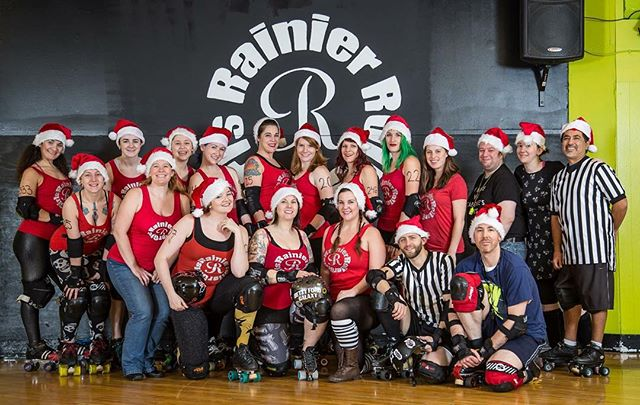 Happy Holidays from RRG!! Don't forget to snag your VIP pass, make it a gift to yourself!! http://m.bpt.me/event/2472101 #jasongarlandphotography #rainierrollergirls #rollerderby #derbyforchristmas #happyholidays