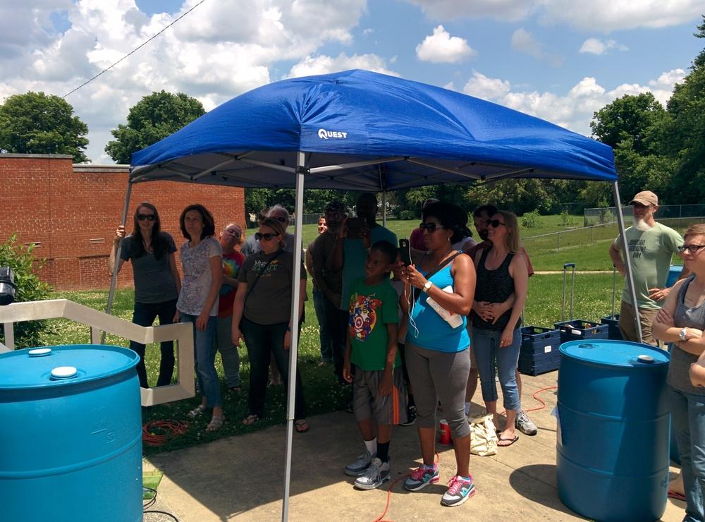 Attendees at a FY15WQIP Rain Barrel Workshop