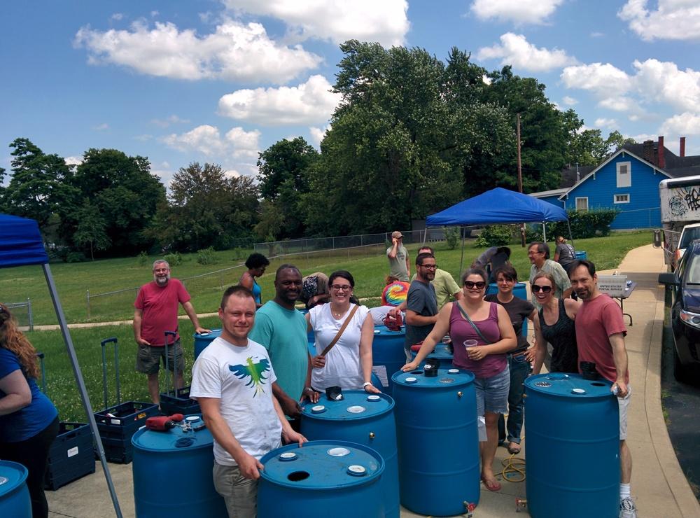 Finished Rain Barrels!