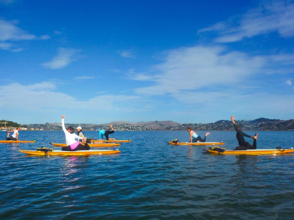 Paddleboard yoga Sausalito
