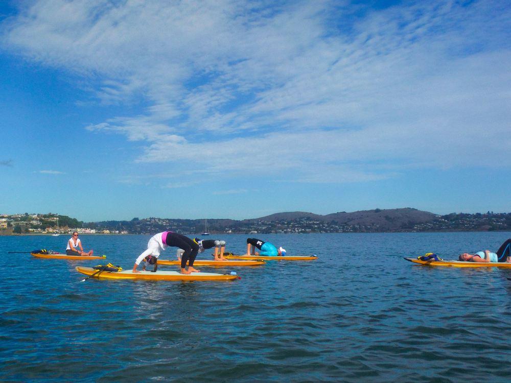 Paddle board yoga Sausalito