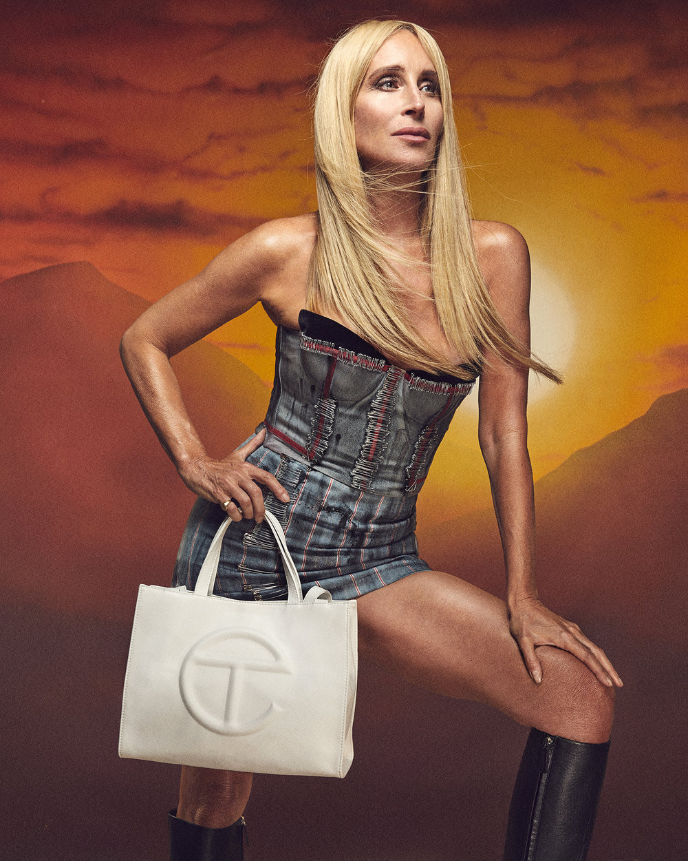 Sonja Morgan Models Telfar - Paper Magazine