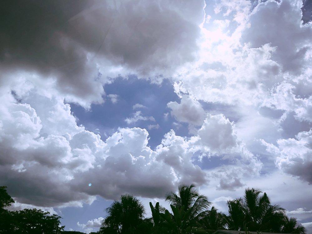 Even when I left Florida... - #modestmouse #clouds #nostalgia