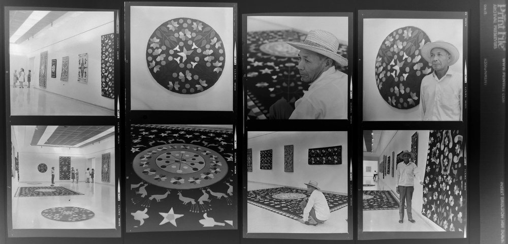Unknown Artisan in an Art Exhibition mid 1960s -  photographs by Hector Sandoval