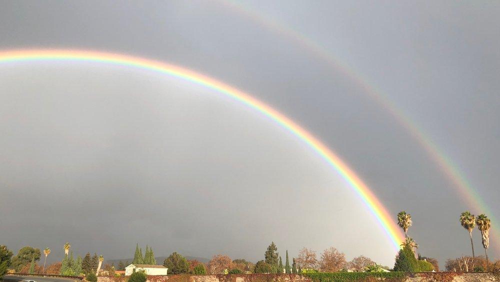 double rainbow - #rain #fall #process
