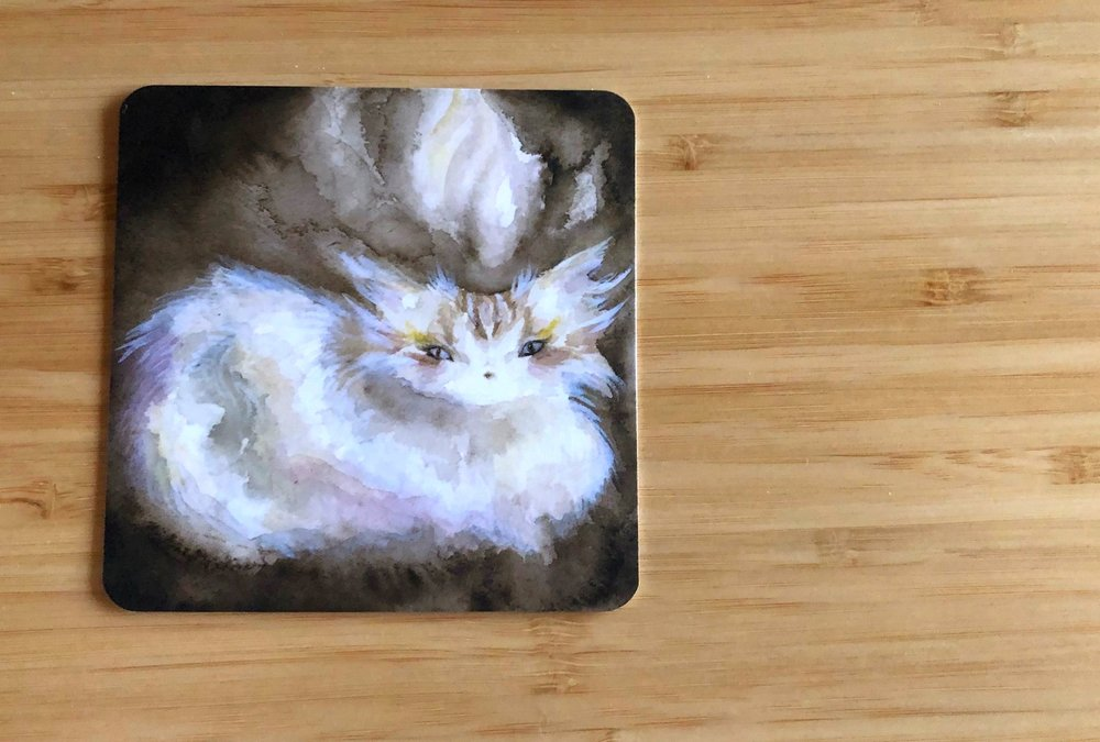 Cozy home - from the Spirit Cats Inspirational Card Deck by Nicole Piar. This adorable cat, Shrine, is telling me that I need to honor the space I have in my home, my altar, & my objects. I need to practice affirming and appreciating all the inspiration my space has to offer.