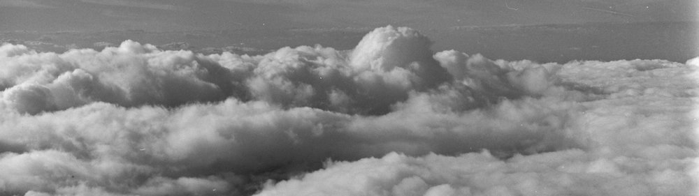 Clouds above Venezuela photographed by Hector Sandoval ~c. 1960